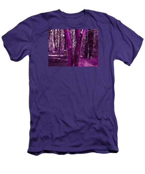 Serene In Purple Men's T-Shirt (Athletic Fit)