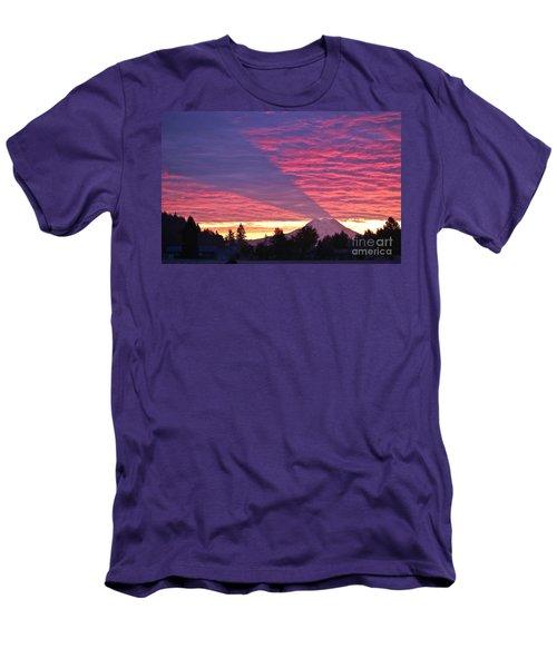 Shadow Of Mount Rainier Men's T-Shirt (Slim Fit) by Sean Griffin