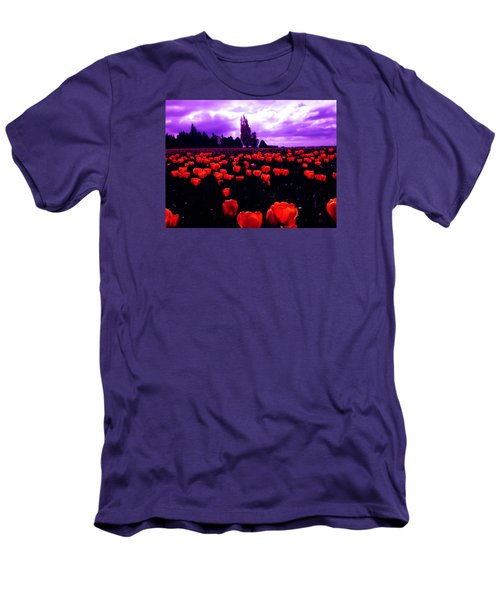 Men's T-Shirt (Slim Fit) featuring the photograph Skagit Valley Tulips by Eddie Eastwood