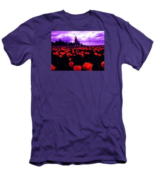 Skagit Valley Tulips Men's T-Shirt (Slim Fit) by Eddie Eastwood
