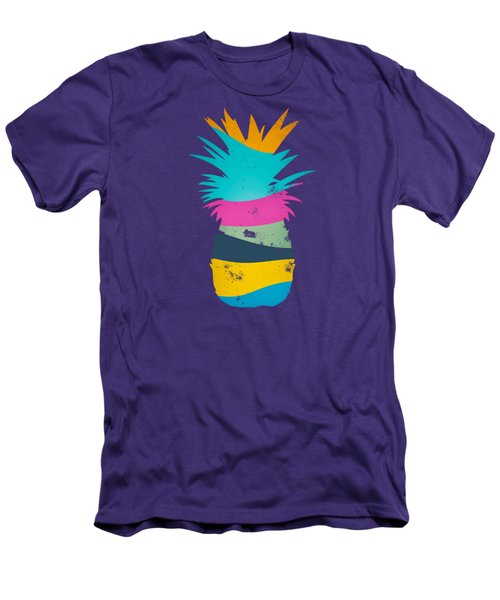 Sliced Ananas, Pineapple Men's T-Shirt (Slim Fit)