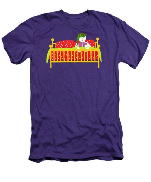 Snowman Bedtime Men's T-Shirt (Slim Fit) by Barbara Moignard