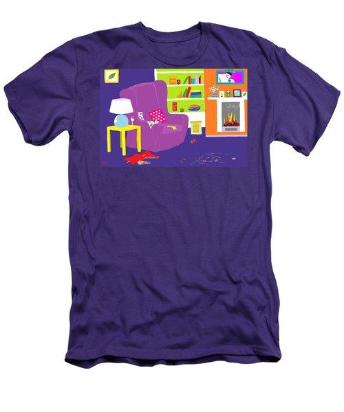 Men's T-Shirt (Slim Fit) featuring the digital art Snowman Party by Barbara Moignard
