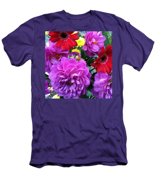 Some Fall Flowers For Inspiration! Men's T-Shirt (Slim Fit)