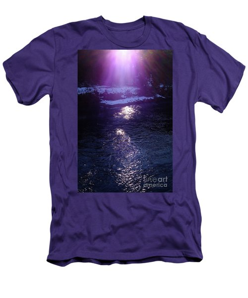 Spiritual Light Men's T-Shirt (Slim Fit) by Tatsuya Atarashi