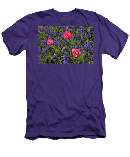 Men's T-Shirt (Slim Fit) featuring the photograph Spring Blooms by Phyllis Peterson