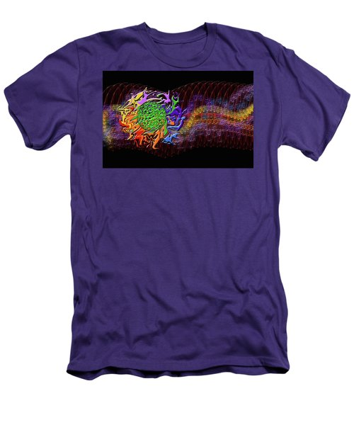 Spring Explodes Nighttime Men's T-Shirt (Athletic Fit)