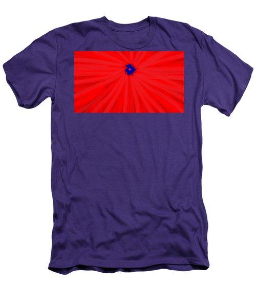 Starburst 2' By Sumi E Master Linda Velasquez Men's T-Shirt (Slim Fit) by Linda Velasquez
