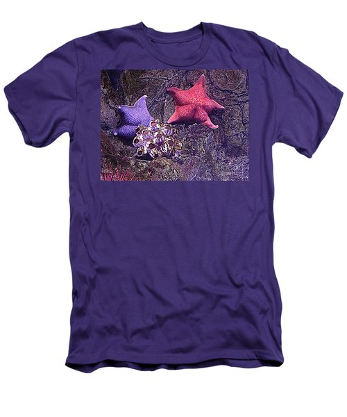 Starfish Pink Starfish Blue Men's T-Shirt (Athletic Fit)
