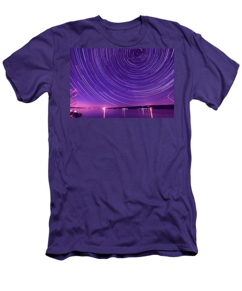 Starry Night Of Cayuga Lake Men's T-Shirt (Athletic Fit)
