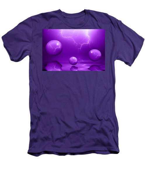 Stormy Skies - Purple Men's T-Shirt (Athletic Fit)