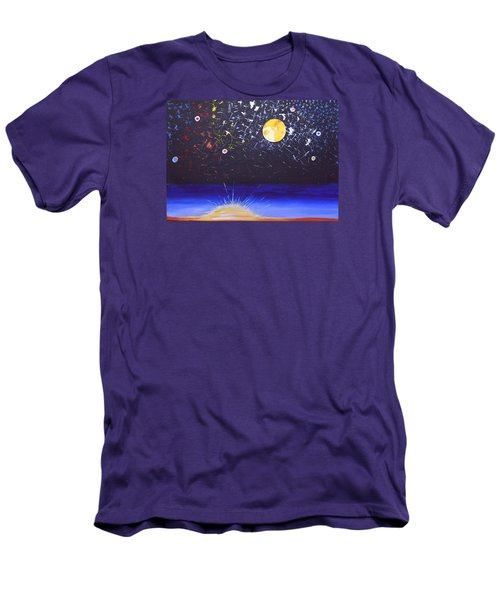 Sun Moon And Stars Men's T-Shirt (Slim Fit) by Donna Blossom