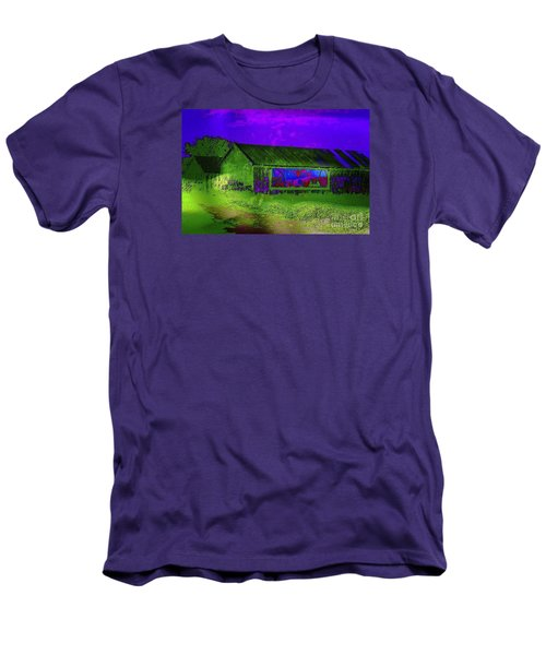 Surreal Barn Graffiti Men's T-Shirt (Slim Fit) by Dee Flouton