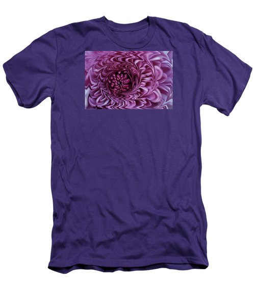Men's T-Shirt (Slim Fit) featuring the photograph Purple Mum Abstract by Glenn Gordon