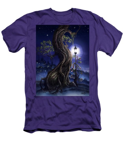 Sylvia And Her Lamp At Dusk Men's T-Shirt (Slim Fit) by Curtiss Shaffer