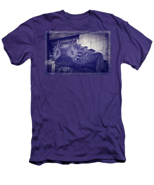 Tcu Horned Frog Purple Men's T-Shirt (Slim Fit) by Joan Carroll