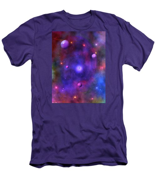 Men's T-Shirt (Slim Fit) featuring the digital art The Great Unknown by Bernd Hau