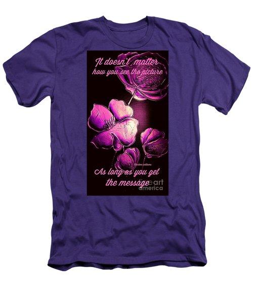 The Message  Men's T-Shirt (Athletic Fit)