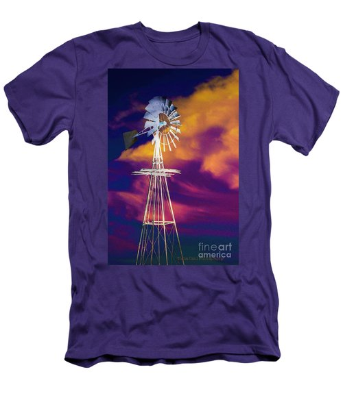 The Old Windmill  Men's T-Shirt (Slim Fit) by Toma Caul