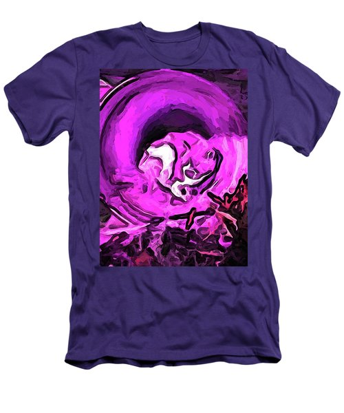 The Pink Cat In The Pink Pot Men's T-Shirt (Athletic Fit)