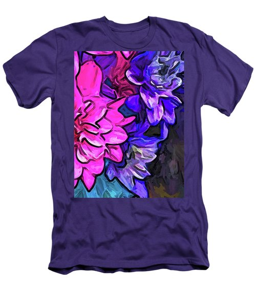 The Pink Petals With The Purple And Blue Flowers Men's T-Shirt (Athletic Fit)