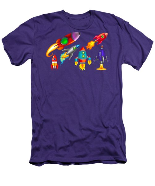 Toy Rockets Men's T-Shirt (Slim Fit) by Brian Kemper