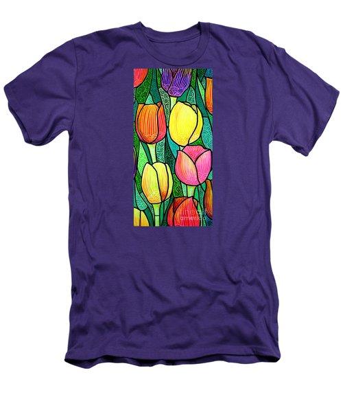 Tulip Expo Men's T-Shirt (Slim Fit) by Jim Harris
