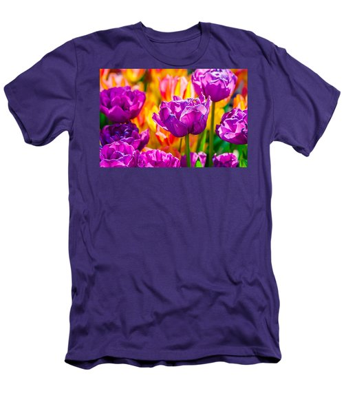 Men's T-Shirt (Slim Fit) featuring the photograph Tulips Enchanting 41 by Alexander Senin