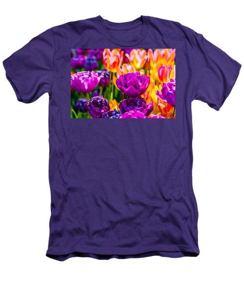 Men's T-Shirt (Slim Fit) featuring the photograph Tulips Enchanting 42 by Alexander Senin