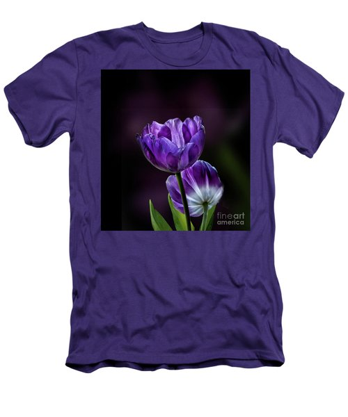 Tulips Men's T-Shirt (Slim Fit) by Shirley Mangini
