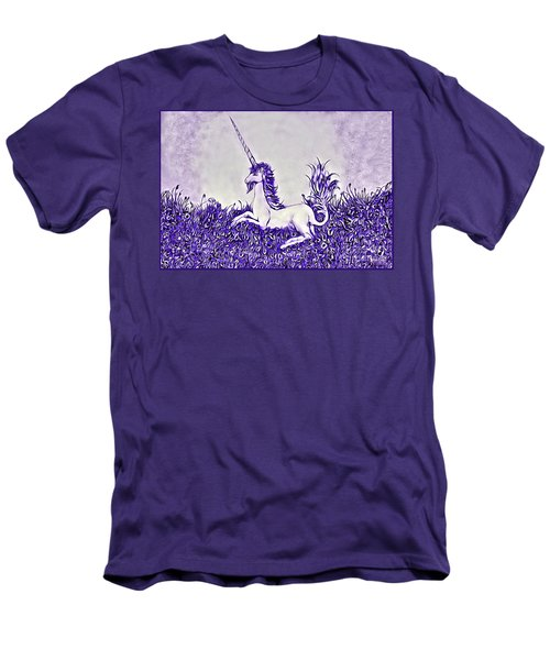 Unicorn In Purple Men's T-Shirt (Athletic Fit)