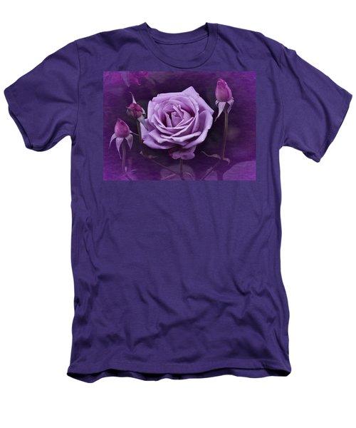 Vintage Aug Purple Rose Men's T-Shirt (Athletic Fit)