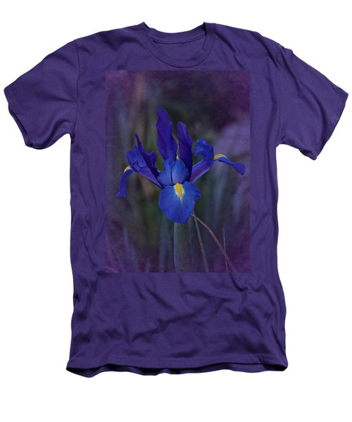 Vintage Blue Magic Iris Men's T-Shirt (Slim Fit) by Richard Cummings