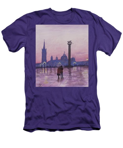 Walk In Italy In The Rain Men's T-Shirt (Slim Fit) by Dan Wagner