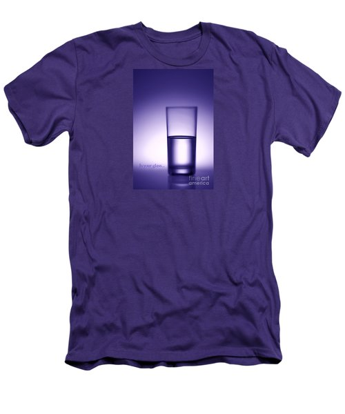 Water Glass Half Full Or Half Empty. Men's T-Shirt (Slim Fit) by George Robinson