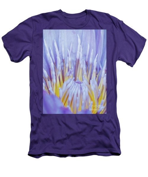 Water Lily Nature Fingers Men's T-Shirt (Slim Fit) by Carol F Austin