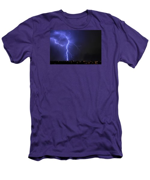 West Jordan Lightning 2 Men's T-Shirt (Slim Fit) by Paul Marto