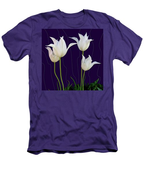 White Tulips For A New Age Men's T-Shirt (Athletic Fit)