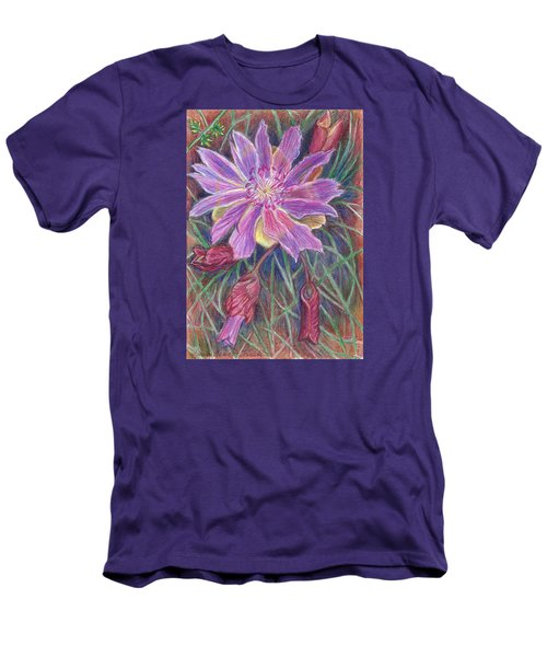 Wild Bitterroot Flower Men's T-Shirt (Athletic Fit)