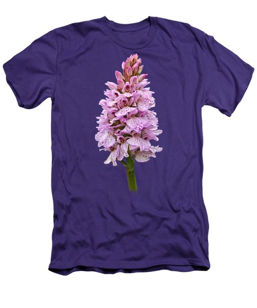 Wild Pink Spotted Orchid Men's T-Shirt (Slim Fit) by Gill Billington