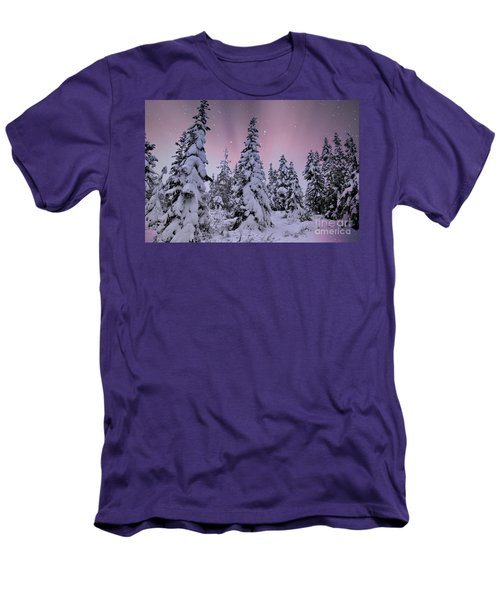 Winter Beauty Men's T-Shirt (Slim Fit) by Sheila Ping