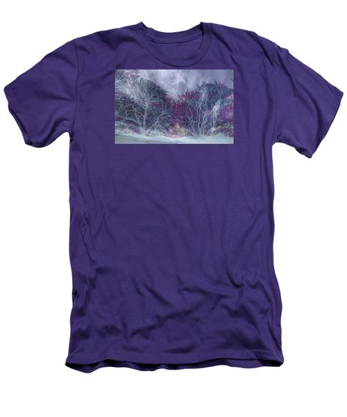 Men's T-Shirt (Athletic Fit) featuring the photograph Winter Purple by Nareeta Martin