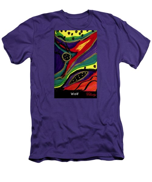 Men's T-Shirt (Slim Fit) featuring the painting Wolf by Clarity Artists