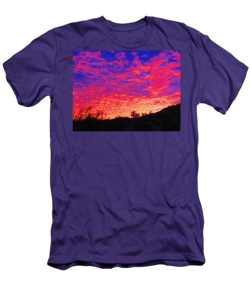 Y Cactus Sunset 1 Men's T-Shirt (Athletic Fit)