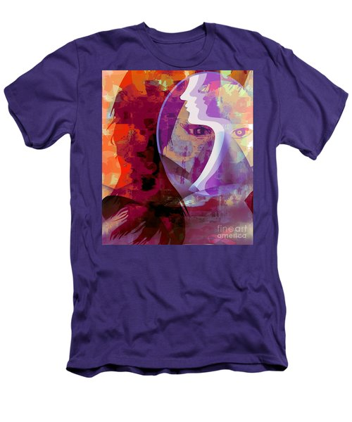 Men's T-Shirt (Slim Fit) featuring the mixed media You Can Beat It by Fania Simon