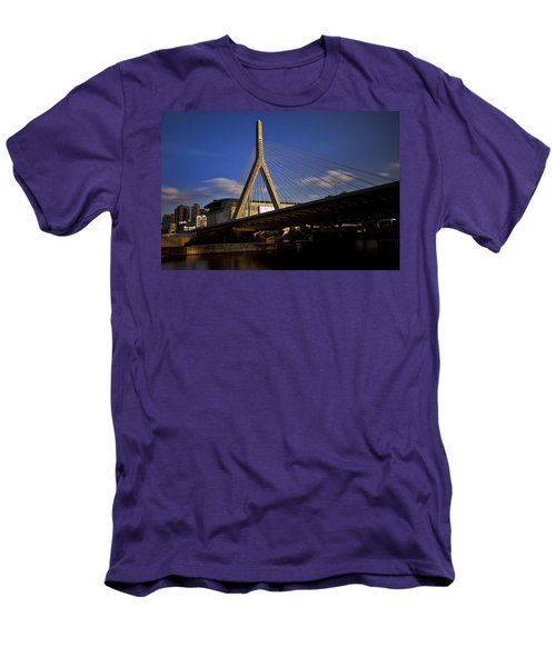 Zakim Bridge And Boston Garden At Sunset Men's T-Shirt (Athletic Fit)