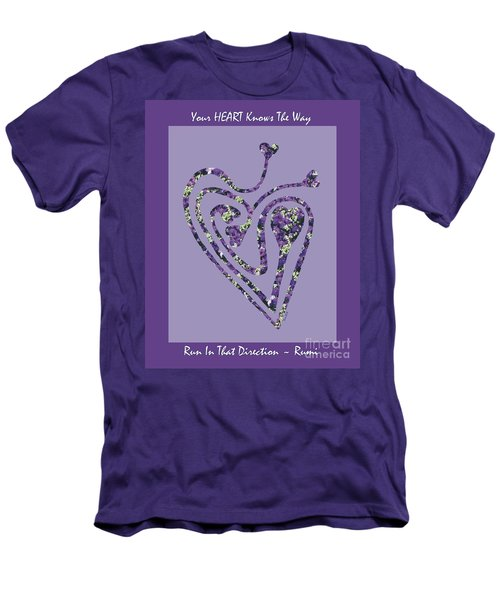 Zen Heart Labyrinth Floral Men's T-Shirt (Athletic Fit)