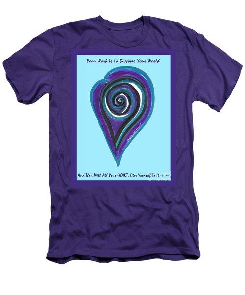 Zen Heart Vortex Wave Men's T-Shirt (Athletic Fit)