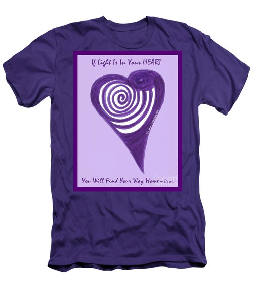 Zen Heart Vortexy  Men's T-Shirt (Athletic Fit)
