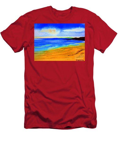 2 Australian Beach In The Morning Near Cottesloe Men's T-Shirt (Athletic Fit)